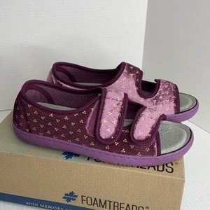 Foamtreads sz 8 violet Debbie 2 slippers like new